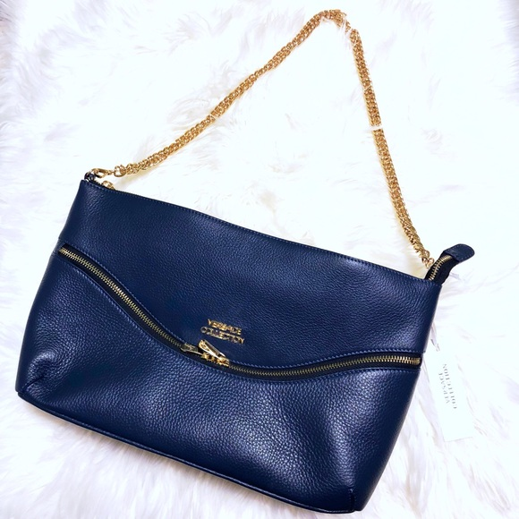 36209b18c7 Versace Vitello Blue Leather Bag 💙. NWT. Versace Collection